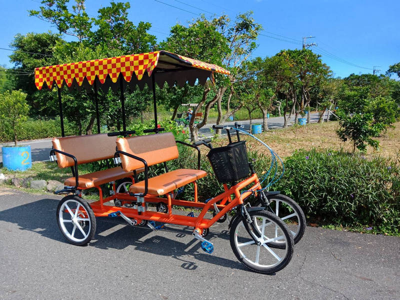 4 person quadricycle with aluminum alloy wheels